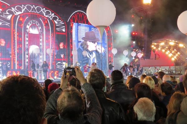 Bühne vor dem Brandenburger Tor