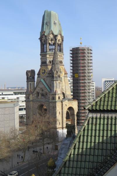 Blick vom Dachgarten des Karstadt-Kaufhauses